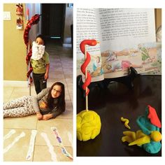 here two families share their ideas! Left picture is from @yedid8a who shares: Family worship: Bible story 41 The Copper Serpent. After reading this amazing story we drew and colored snakes then we acted out the story. We remembered that Jesus was hung on a stake and if we look at him have faith in him and follow his steps we will have everlasting life right picture is from @citrus_ice06 who shares: My 2.5 year old son and I adore playdough! We enjoyed using it to make the copper serpent…