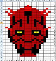 Darth Maul Star Wars pattern by Penny-wise Knitting