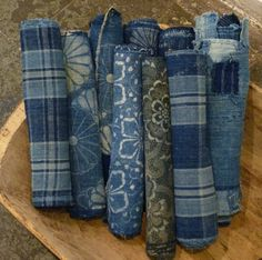 wonderful, indigo dyed, 19th century cottons.  All of them are taken from futon covers.