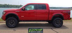 Red F-150 by Venom Motorsports in Grand Rapids MI . Click to view more photos and mod info.