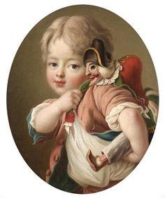 Portrait of a child, 1771 by François Hubert DROUAIS (Paris 1727-1775)