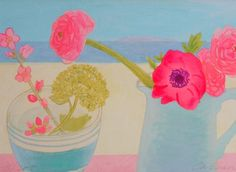 Love the colors in this! Limited edition Giclee print titled 'Pink by vanessacabban on Etsy, £25.02