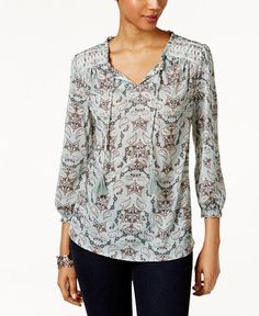 23.99$  Watch now - http://vicxa.justgood.pw/vig/item.php?t=3hit2755342 - Printed Embroidered Top, Only at Macy's