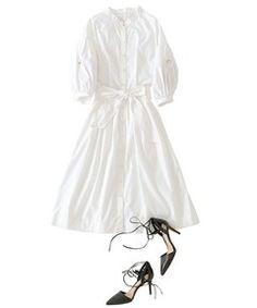 【セール】【VERY6月号掲載】ソフトフィット&フレアシャツワンピース(ワンピース) The Virgnia(ザ ヴァージニア)のファッション通販 - ZOZOTOWN