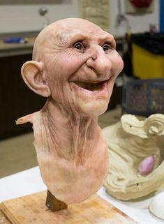 x - Super Sculpey Polymer Clay - Art Sculpture, Sculptures, Polymer Clay Dolls, Clay Figures, Doll Tutorial, Creature Design, Clay Creations, Doll Face, Clay Art
