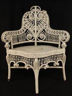 victorian corner wicker chair stevens
