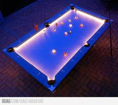 Outdoor Pool Table... Would be Great in a Fun backyard Outdoor BAR!