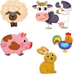 5 houten puzzels boerderijdieren - #Vilac #puzzles #farm #littlethingz2