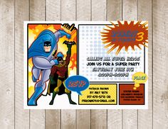 Super Hero Birthday Invitation by MilanoInk on Etsy, $25.00