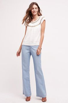 Pilcro Chambray Trousers