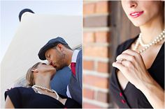 Sweet Vintage Love Engagement Session from Dolce Photography