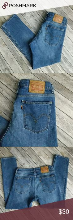 """Levi's 505C Crop Jeans New school remake of an old classic. 99% cotton, 1% elastane. Great used condition. Waist 15 1/4"""" laying flat. Rise 10 1/2"""". Length 27 1/2"""". Levi's Jeans Ankle & Cropped"""