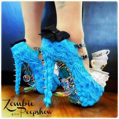 Teacup Alice Malice Wonderland Cake Pumps. (They also remind me of the Monster Book of Monsters!)