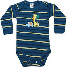 Body Bebê Menino Girafa Listrado Amarelo - Best Club :: 764 Kids | Roupa bebê e infantil