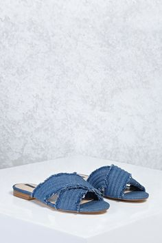 from china clearance great deals M. Gemi Denim Slide Sandals w/ Tags perfect online zXL4ejYP