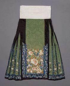 Woman's domestic skirt (qun)  Chinese (Han), Qing dynasty, mid-19th century