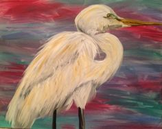 Bird of Louisiana. Acrylic on canvas.