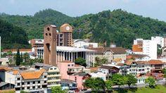 Cidade de Blumenau, em Santa Catarina