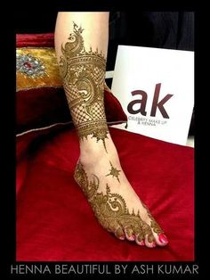 Ash kumar bridal henna, Mehndi design