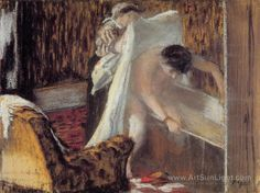 woman-leaving-her-bath-by-Edgar-Degas-