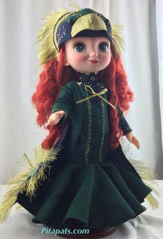 I repaint & made new clothes Original Disney animator Merida doll as peacock princess. All My art works are sold at Pitapats.com #Disney #disney_animators_dolls #disney_brave #baby_doll #modified #repaintdoll #new_doll #handmadedoll #doll_dresses #animator _doll #merida_dress #brave #peacock #customized #disney_princess #brave_merida #peacockdress #peacock_dresses #miss_peacock #greendress