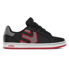 etnies Fader LS Kids Shoes Black/White/Red