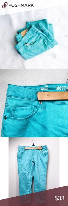 Color Pop Skinny Jeans Color pop skinny jeans! The color is a beautiful green, somewhere between mint and sea foam.  ✅Bundle & Save 🚫Trades 🚫Off-Posh 🚫Modeling  💞Shop with ease; I'm a Posh Ambassador.💞 Mossimo Supply Co. Jeans Skinny