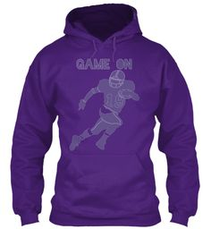 Game On Purple Hoodie #football #purple