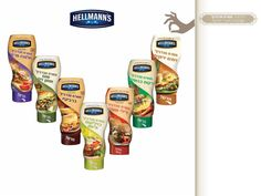 Hellmanns brand. Sandwich spreads . packaging design for Unilever Israel by Vardit Dafni- Art director and Brand artist