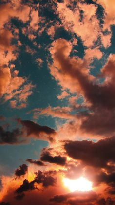Sonnenuntergang am Himmel - - Olivia - - Natur - Natur Cloud Wallpaper, Pink Wallpaper Iphone, Sunset Wallpaper, Iphone Background Wallpaper, Nature Wallpaper, Wallpaper Ideas, Amazing Wallpaper, Walpaper Iphone, View Wallpaper