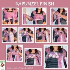 Tutorial: Saras Rapunzel Finish for a woven wrap (size 6-7)
