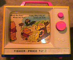 maybe not winnie the pooh but definitely a music box tv! I think mom still keeps it!