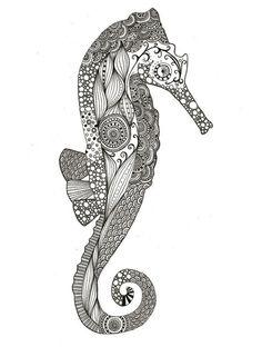Seahorse doodle