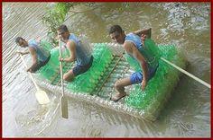 DIY bottle raft: genius!