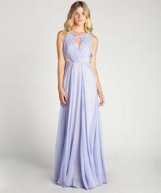 Badgley Mischka lavender evening gown