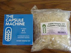 The Capsule Machine plus 1000 #1 size empty gelatin capsules
