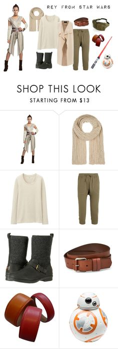 """""""Rey from Star Wars"""" by aisyavi on Polyvore featuring Barneys New York, Uniqlo, R13, UGG, Liebeskind, Etienne Aigner and Zak! Designs"""
