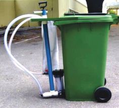 Environmentally friendly way of washing paint brushes, rollers, paint waste, residue.