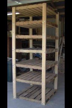 Pallet shelves....