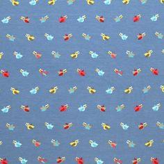 Tissu Jersey Enfants : Tissus Jersey Pour Enfants - Petit Oiseau Bleu