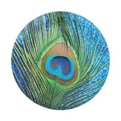 Glittery Blue Peacock