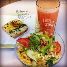 Nicht zwangsläufig brasilianisch ;-), aber trotzdem ein leichter & feiner Mittagssnack an unserer Saftbar ... Wir wünschen einen guten Appetit :-)