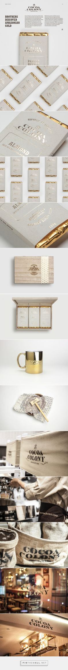 Great branding with real colonial feel. Reminds me a bit of Whiskey //Cocoa Colony Chocolate packaging designed by Bravo (Singapore)… Candy Packaging, Chocolate Packaging, Pretty Packaging, Food Packaging, Design Packaging, Coffee Packaging, Bottle Packaging, Identity Design, Logo Design