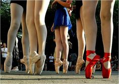 A look at five of the 230 ballerinas who stood en pointe for one minute and seven seconds in New York City's Central Park in August of 2010, breaking the Guinness world record.