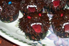 Werewolf Cupcakes   recipe at  http://www.werewolves.com/werewolf-cupcakes/#