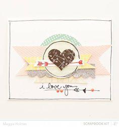 I love you card {STudio Calico Feb Kits}