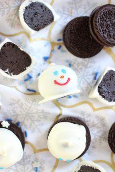 melting snowmen oreo cookie balls 8