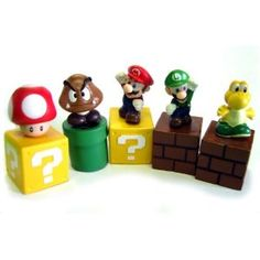 New Super Mario Bros mini figures bundle (a set of Five ~1