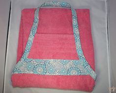**Towel apron for purchase is towel in the FIRST photo**  Protect yourself from bath time splashes with a unique towel apron. The towel apron is