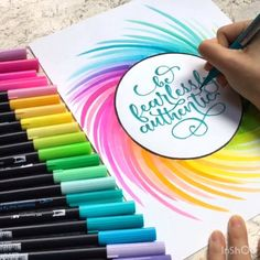Hand Lettering Art, Creative Lettering, Cool Lettering, Brush Lettering, Crayola Calligraphy, Calligraphy Letters, Marker Crafts, Marker Paper, Calligraphy Birthday Card
